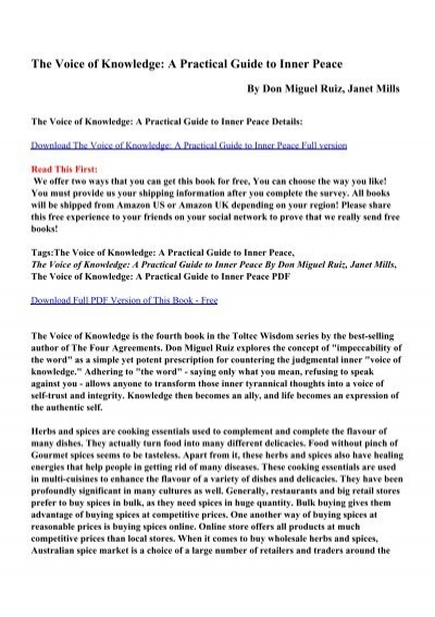 the voice of knowledge pdf ebook