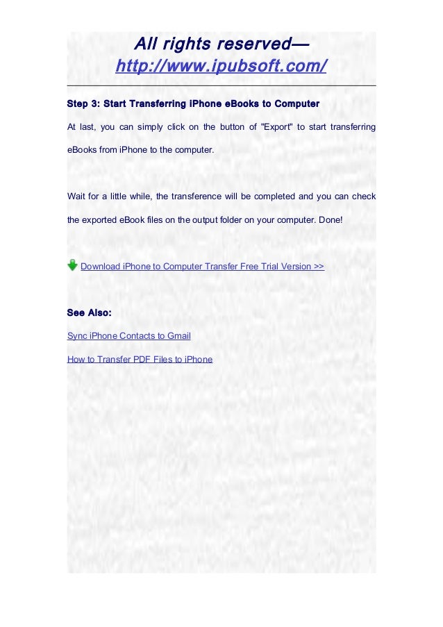 transfer ebook from phone to pc