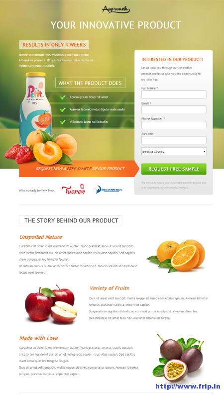 free ebook landing page template